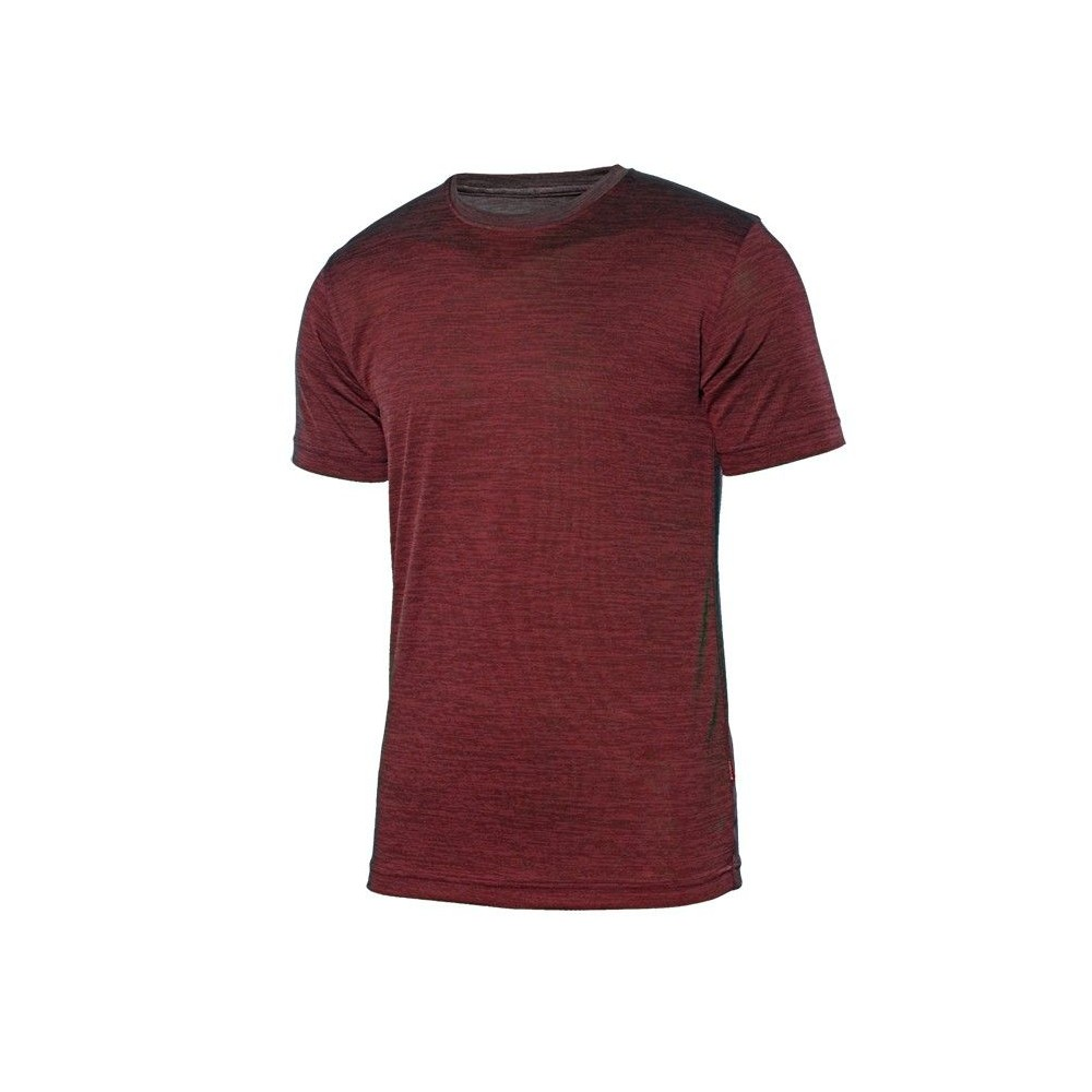 Camiseta técnica jaspeada de manga corta