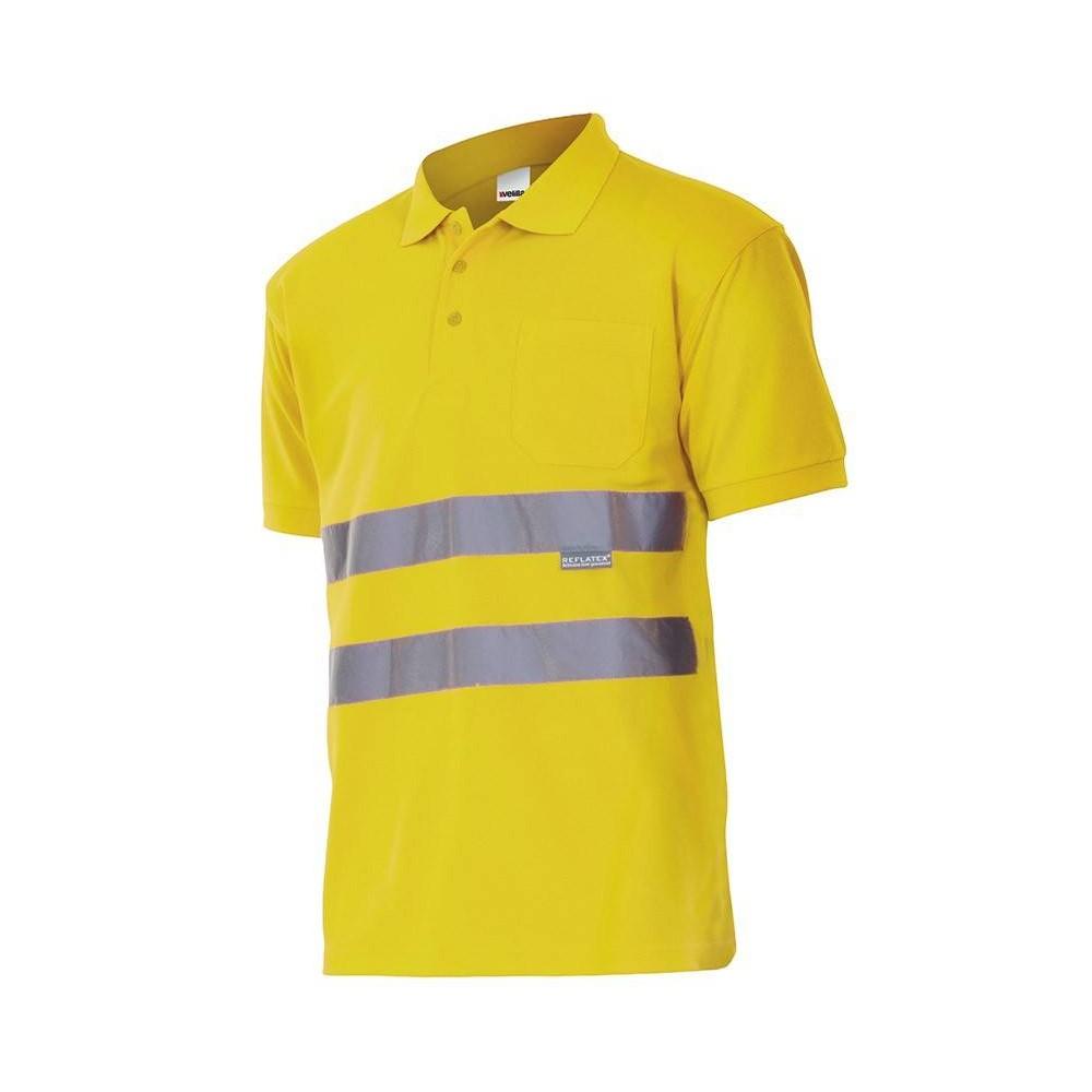 Polo de alta visibilidad bicolor con bolsillo