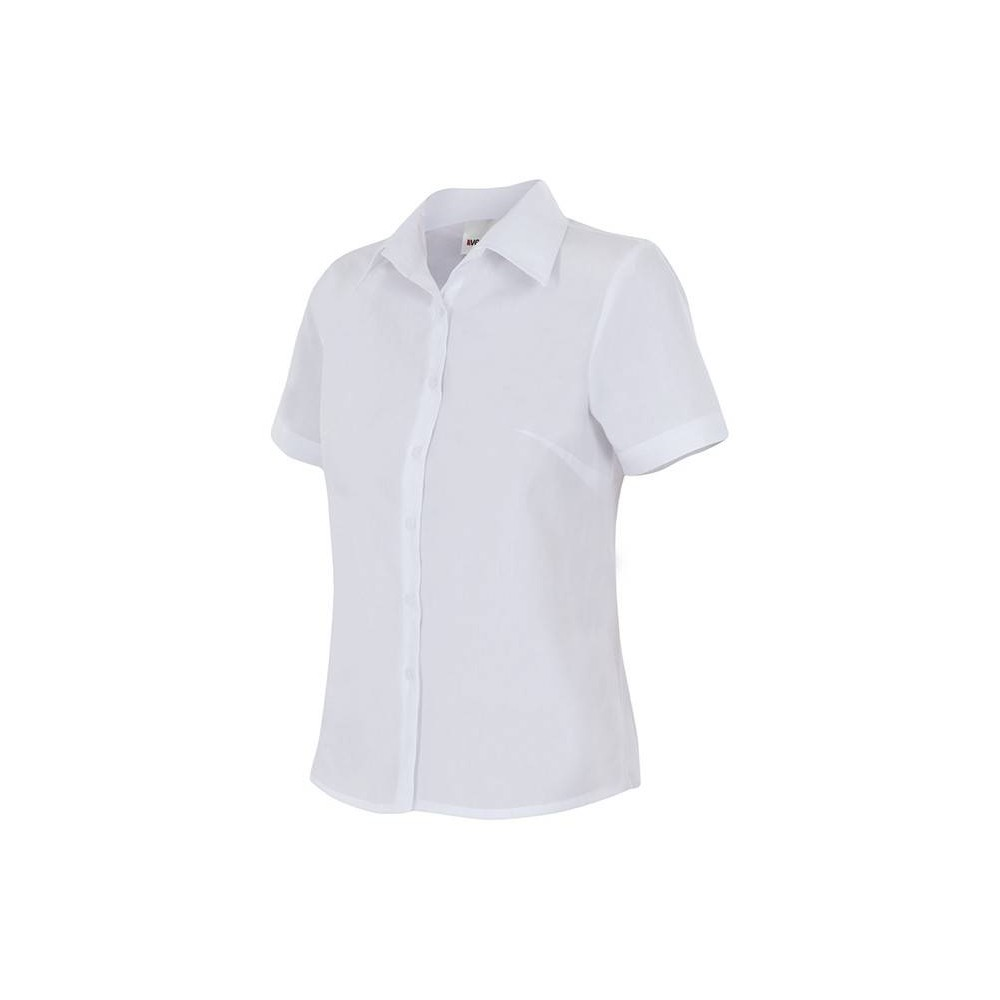 Camisa de mujer semientallada de manga corta