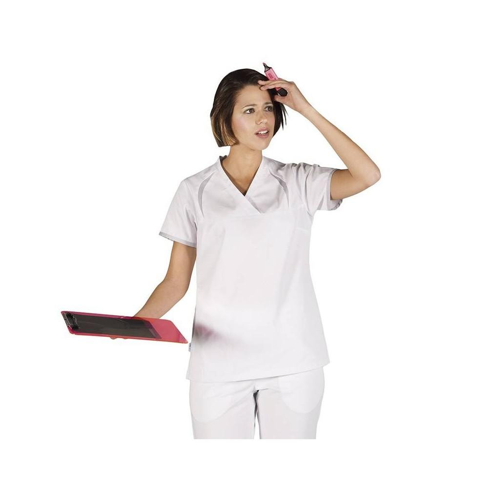 Blusa Sanitaria de mujer con bolsillo