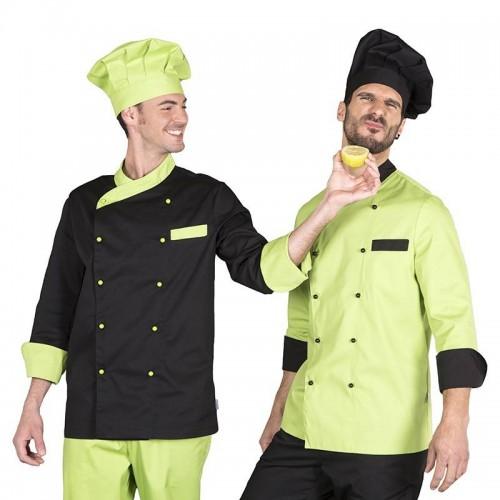 Chaqueta de cocina bicolor