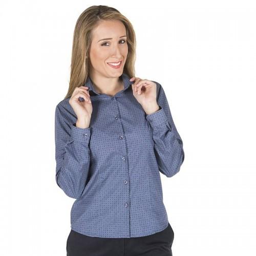 Camisa de Hostelería de Mujer Estampada