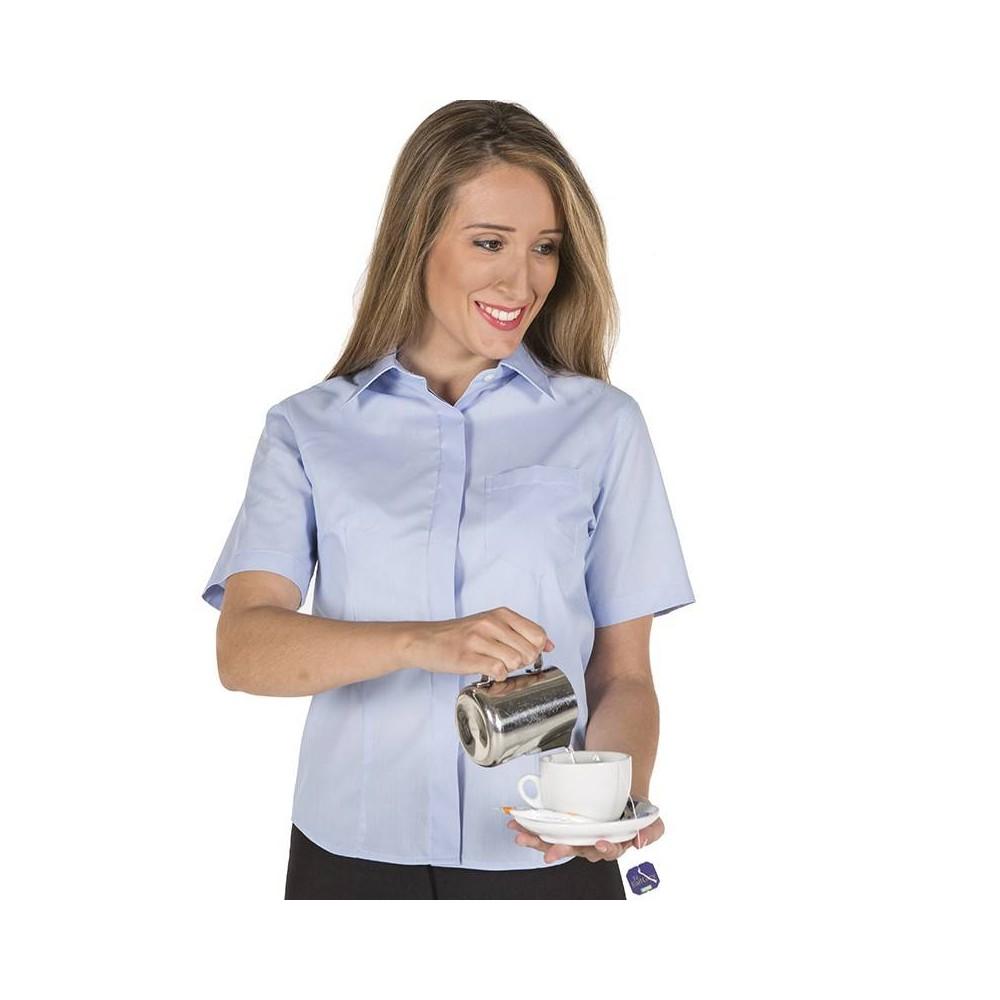 fa02de520c Camisa de Hostelería de mujer de manga corta