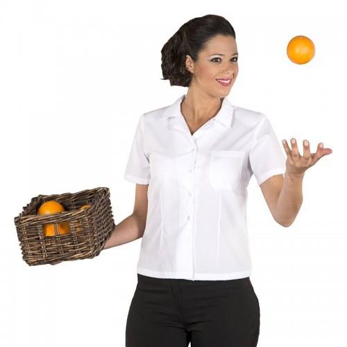 Blusa de camarera semientallada