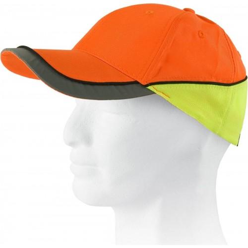 Gorra de alta visibilidad combinada