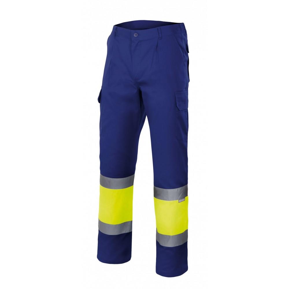 Pantalón de alta visibilidad bicolor