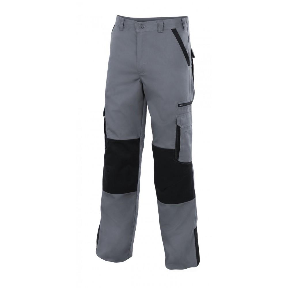 Pantalón multibolsillos reforzado bicolor