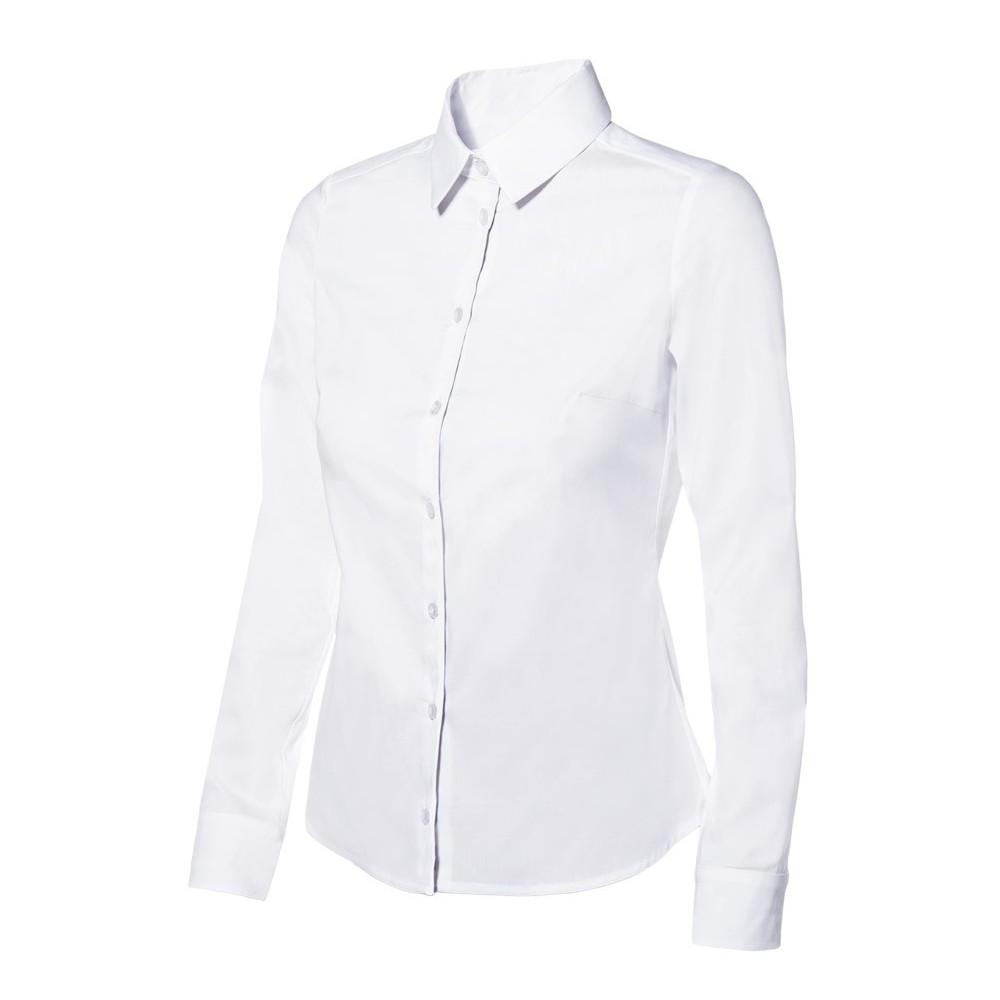 Camisa de mujer stretch con cuello francés