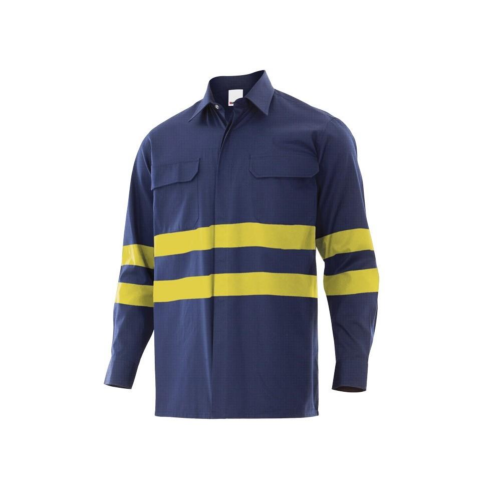 Camisa Ignífuga-antiestática con cintas reflectantes
