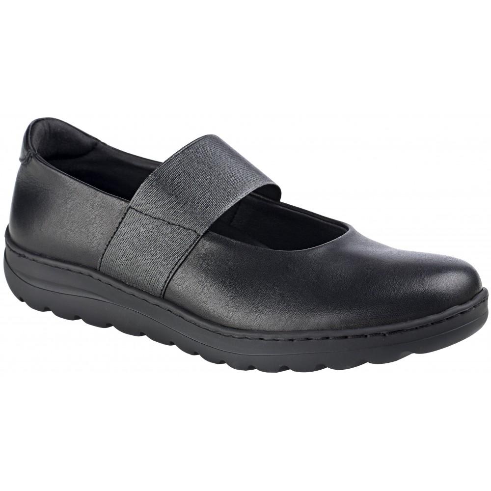 Zapato de mujer en piel con elástico