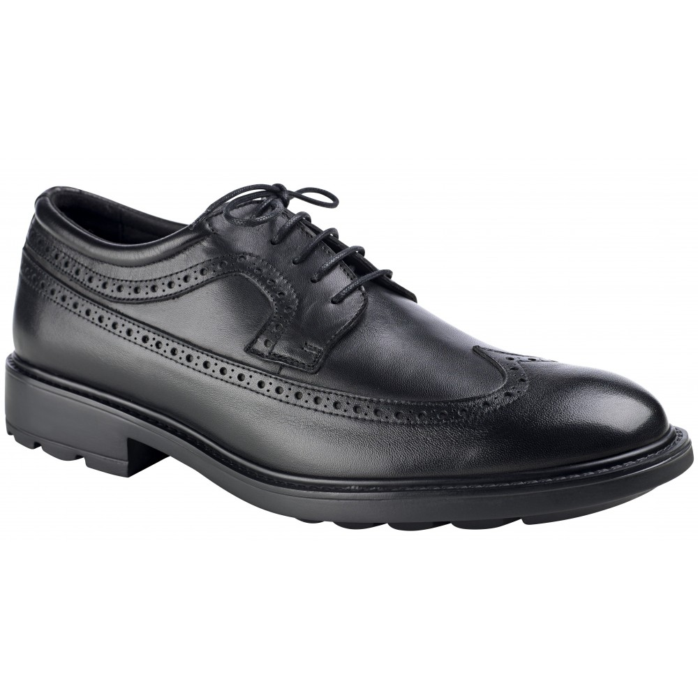 Zapato de piel tipo Blucher con cordones