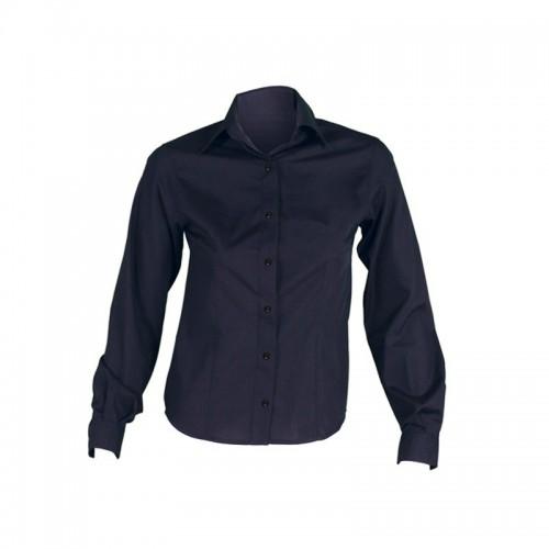 Camisa semiajustada de manga larga