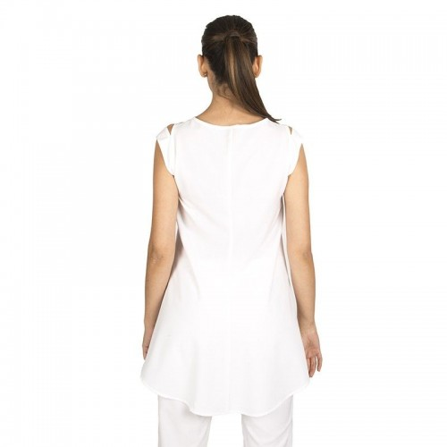 Blusa larga elástica semiajustada