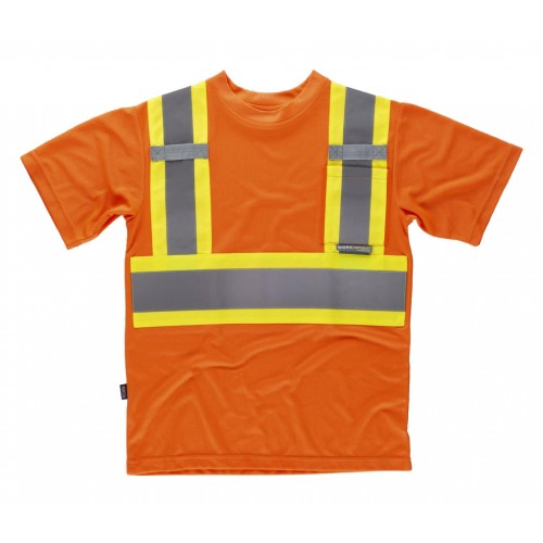 Camiseta reflectante-fluorescente