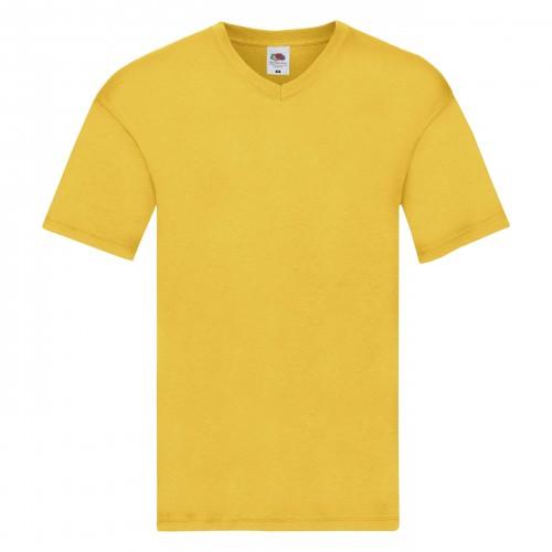 Camiseta con cuello de pico 100% algodón
