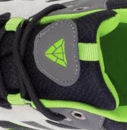 Gris/negro/verde